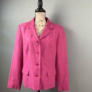 Nordstrom NWOT Pink Silk Blazer Size 16
